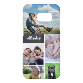 Custom Collage 5 Photos, chalk letters Samsung Galaxy S7 Case