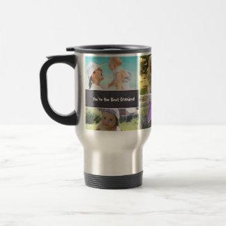 Custom Collage 6 Photos, Personalized, chalked Travel Mug