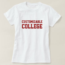 Custom College Name with Year T-Shirt