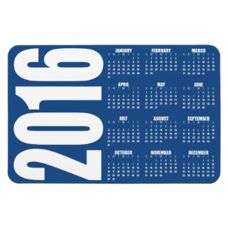 Custom Color 2016 Calendar Magnet