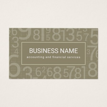 Oyster Brown Custom Color Numbers Accountant Business Cards Template
