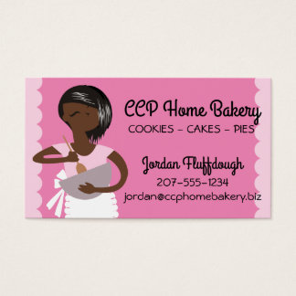 Custom color African American bakery mixing bowl Business Card