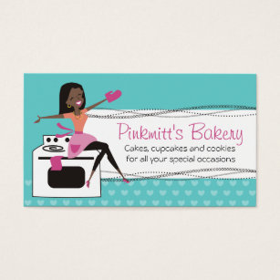 African american woman business cards templates zazzle custom color african american woman chef bakery business card colourmoves Images