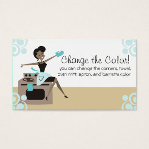 African american woman business cards templates zazzle custom color african american woman cooking baking business card colourmoves Images