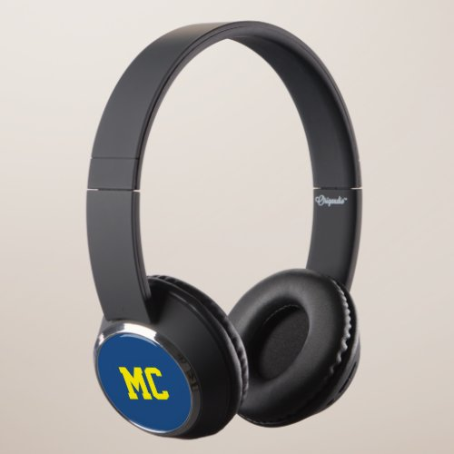 Custom color and name monogram headphones