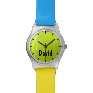 Custom Color and Text Kids Tennis Ball Watch
