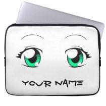 Custom Color Anime Girl Eyes Computer Sleeve