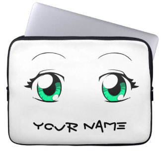 Custom Color Anime Girl Eyes Computer Sleeve