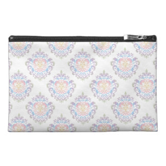 Custom Color Background Pastel Damask Pattern Travel Accessories Bags