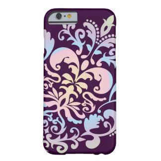 Custom Color Background Pastel Damask Pattern Barely There iPhone 6 Case