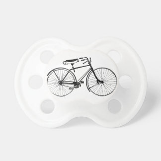 Custom Color Background   Vintage Bicycle Pacifier