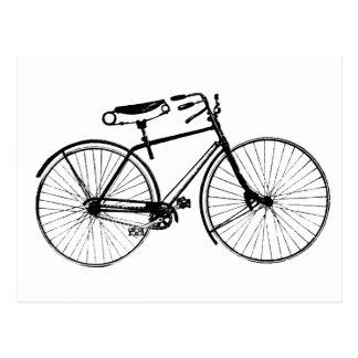 Custom Color Background   Vintage Bicycle Postcard