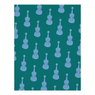 Custom Color Background Violin Viola Scrapbook Letterhead