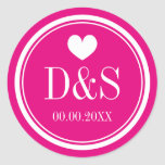 Custom color background wedding favor stickers