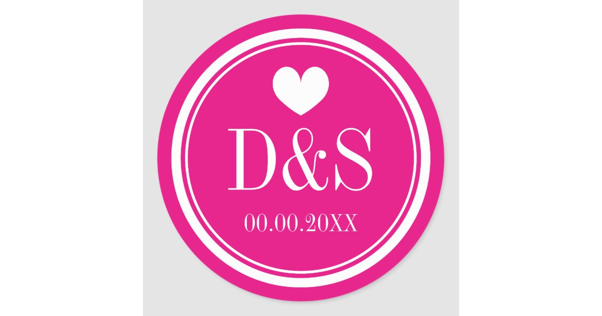 Custom Color Background Wedding Favor Stickers Zazzle