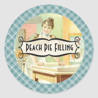 custom color baker rolling pin canning label