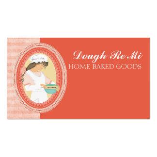 Custom color baking bakery girl dough mixing bowl business card template