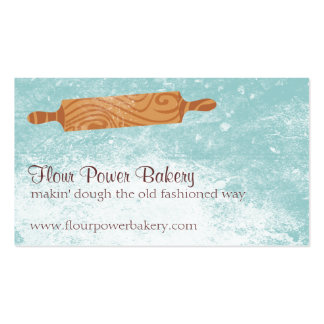 Custom color baking bakery rolling pin flour Double-Sided standard business cards (Pack of 100)