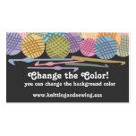 Custom color balls of yarn crochet hooks biz cards