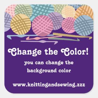 Custom color balls of yarn crochet hooks labels