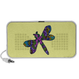 Custom Color Batik Dragonfly Speakers