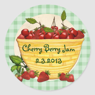 Custom color berry cherry strawberry canning label