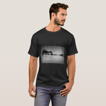 GalXC_Designs Custom Color Black Guitar Water Reflection T Shirt