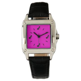 Custom Color Black Stiletto Wristwatches