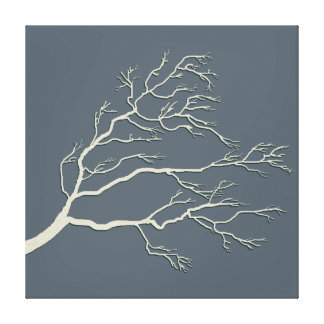 Custom Color Branching Tree Ivory BTIX Canvas Print