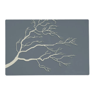 Custom Color Branching Tree Ivory BTIX Placemat