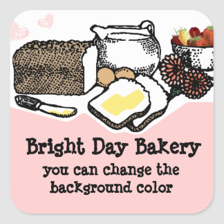 Custom color bread bakery baking gift tag label sticker