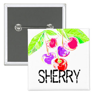 Custom color bright cherries baking bakery cooking pinback button