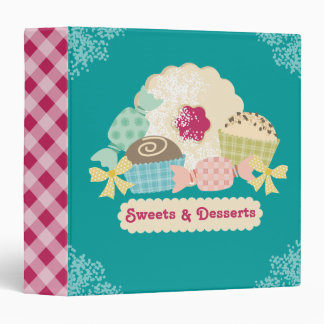 Custom color candy truffle cookie baking recipe vinyl binders