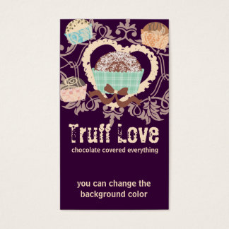 Custom color chocolate truffles confections candy business card