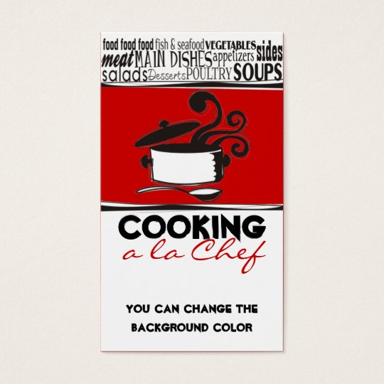 Custom color cooking pot curling steam chef card