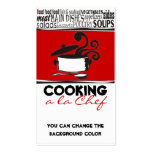 Custom color cooking pot curling steam chef card Double-Sided standard business cards (Pack of 100)