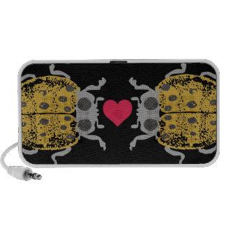 Custom color crawling ladybugs beetles love bugs iPhone speakers