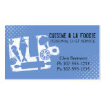 Custom color cutting board food utensils recipe Double-Sided standard business cards (Pack of 100)