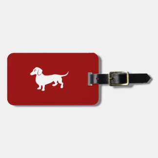 Custom Color Dachshund Bag Tag
