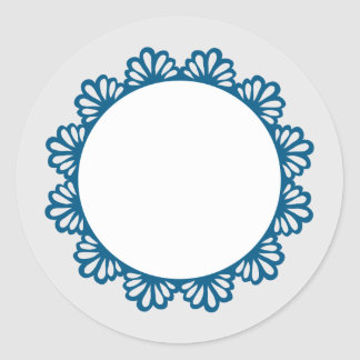 CUSTOM COLOR Decorative Lace Circle A004 Classic Round Sticker