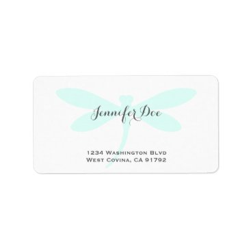 Professional Business Custom Color Dragonfly Address Label Template