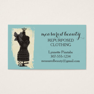 custom color dress dummy fashion mannequin sewing business card