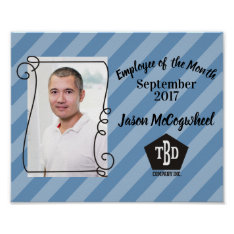 Custom Color Employee Of The Month Certificate Poster at Zazzle