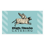custom color flying cow beef cuts chef catering business cards