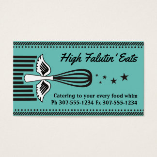 Custom color flying whisk 5 stars chef catering business card