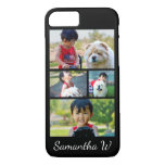 Custom Color Four Photo Collage iPhone 8/7 Case