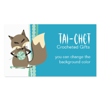 Custom color fox crochet hooks yarn gift tag Double-Sided standard business cards (Pack of 100)