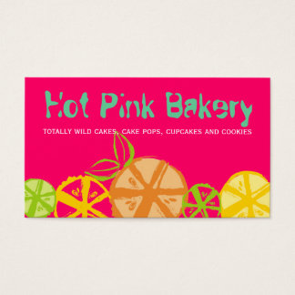 custom color fruit slices baking cooking catering business card