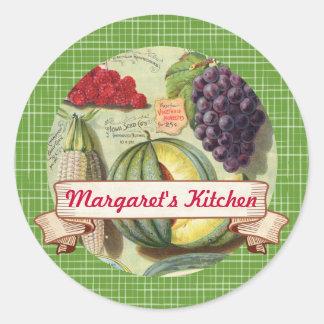 custom color fruit vegetable canning label