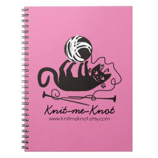 Custom color funny black cat knitting needles yarn notebook